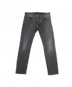 ENTRE AMIS(アントレ アミ)の古着「スキニーデニムパンツ」|ブラック