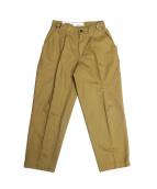 CellarDoor(セラドール)の古着「LEO Tパンツ」|キャメル