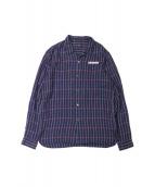 UNDERCOVER(アンダーカバー)の古着「オープンカラーシャツ」|ネイビー