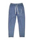 RHC Ron Herman(アールエイチシー ロンハーマン)の古着「インディゴダイスウェットパンツ」|ブルー