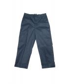UNITUS(ユナイタス)の古着「コーティング加工センターダーツパンツ」|ネイビー