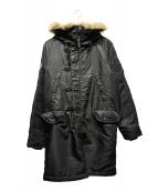 Hysteric Glamour(ヒステリックグラマー)の古着「プリマロフトエアフォースN-3Bコート」|ブラック