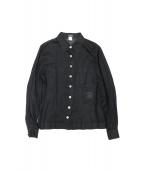 CHANEL(シャネル)の古着「メタルボタンリネンシャツ」