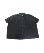 Honnete(オネット)の古着「リネンワイドシャツ」 ブラック