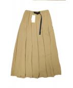 GRAMICCI(グラミチ)の古着「別注ジョーゼットタックロングスカート」