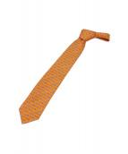 HERMES(エルメス)の古着「シルクプリントネクタイ」|オレンジ