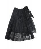 UNTITLED NOEL(アンタイトル ノエル)の古着「レースプリーツラップスカート」