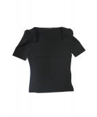 FOXEY NEWYORK(フォクシーニューヨーク)の古着「デコルテカットソー」|ブラック