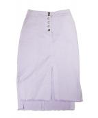 GRACE CONTINENTAL(グレースコンチネンタル)の古着「フリンジタイトスカート」 ピンク