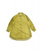 Spick and Span(スピック アンド スパン)の古着「ネップオーバーシャツジャケ」|オリーブ