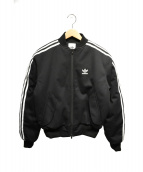 adidas(アディダス)の古着「中綿ボンバージャケット」 ブラック