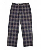 BERNARD ZINS(ベルナールザンス)の古着「チェックパンツ」|ネイビー