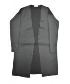 BALLSEY(ボールジー)の古着「シルクプレーティングコンビ ロングカーディガン」|グリーン×ブラック