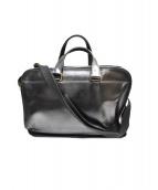 F.CLIO(エフクリオ)の古着「2WAYレザービジネスバッグ」|ブラック