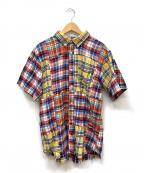 ELVIRA(エルビラ)の古着「パッチワークチェックシャツ」|マルチカラー