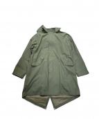 EEL(イール)の古着「コットンペーパーコート」|グリーン