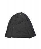 Needles(ニードルス)の古着「別注作務衣ジャケット」|ブラック×パープル