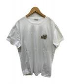MONCLER(モンクレール)の古着「ロゴワッペンTシャツ」|ホワイト