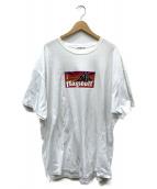 FLAGSTUFF(フラッグスタッフ)の古着「5周年記念BOX LOGO TEE」|ホワイト