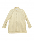 YAECA(ヤエカ)の古着「ストライプシャツ」 ベージュ×グレー