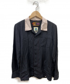 ROTAR(ローター)の古着「バックロゴボウリングシャツ」|ブラック
