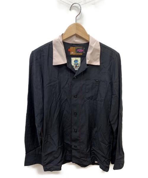ROTAR(ロータ)ROTAR (ロータ) バックロゴボウリングシャツ ブラック サイズ:SIZE Sの古着・服飾アイテム