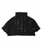 ISSEY MIYAKE(イッセイミヤケ)の古着「カットフリンジ裁断ニット」|ブラック