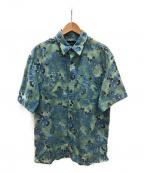 L.L.Bean(エルエルビーン)の古着「ヴィンテージビッグアロハシャツ」 レトロブルー×グリーン