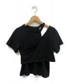 AMERI(アメリヴィンテージ)の古着「クルーネックオフショルTEE」|ブラック