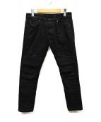 DIESEL BLACK GOLD(ディーゼルブラックゴールド)の古着「バイカーデニム」|ブラック