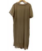 AMERI(アメリヴィンテージ)の古着「シフォンワンピース」|ベージュ