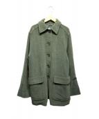 Max Mara(マックスマーラ)の古着「ヴァージンウールコート」|グリーン