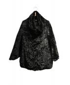 HERNO(ヘルノ)の古着「ベロアダウンジャケット」|ブラック
