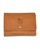 IL BISONTE(イルビゾンテ)の古着「ヌメレザー2つ折り財布」|ナチュラル