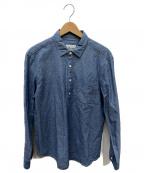 PAPAS(パパス)の古着「POシャンブレーシャツ」 サックスブルー