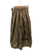 HARVESTY(ハーベスティー)の古着「40コーマ糸ツイルサーカスキュロットパンツ」|ベージュ