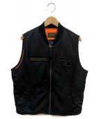 ALPHA(アルバ)の古着「コラボMA-1ベスト」|ブラック
