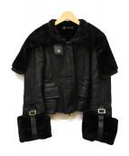 GUCCI(グッチ)の古着「リアルムートンライダースジャケット」|ブラック