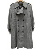 Burberrys(バーバリーズ)の古着「グレンチェックトレンチコート」|グレー