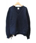 SUNSEA(サンシー)の古着「V-neck Sweater」|ネイビー