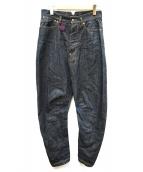 Vivienne Westwood man(ヴィヴィアン ウェストウッド マン)の古着「デニムサルエルパンツ」|ブルー