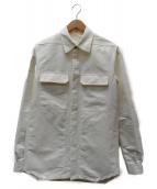 RICK OWENS(リックオウエンス)の古着「ナイロンフィールドシャツ」|ホワイト