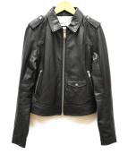 DOMA(ドマ)の古着「レザージャケット」|ブラック