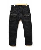 MOMOTARO JEANS(モモタロー ジーンズ)の古着「15.7oz特濃インディゴ出陣ブッシュパンツ」|インディゴ