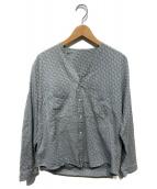 YANTOR(ヤントル)の古着「ノーカラーシャツ」|グレー
