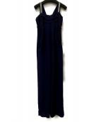 GRACE CLASS(グレースクラス)の古着「バックリボンロングドレス」|ネイビー