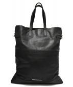 DIESEL BLACK GOLD(ディーゼルブラックゴールド)の古着「レザートートバッグ」|ブラック
