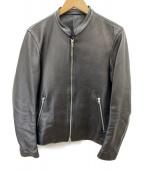 LIDnM(リドム)の古着「ラムレザージャケット」 ブラック