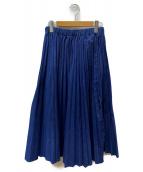 URVIN(アービン)の古着「プリーツスカート」|インディゴ