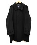 BURBERRY LONDON(バーバリーロンドン)の古着「アンゴラカシミヤ比翼コート」 ブラック